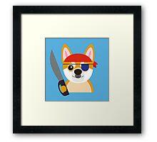 The Captain Shiba Framed Print