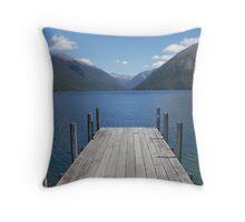 Nelson Lakes St Arnaud NZ Throw Pillow