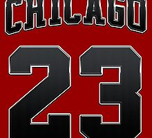 Chicago 23 Sports Number Basketball NBA - Football NFL Black  by MuralDecal