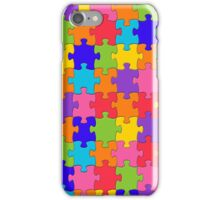 Colorful Jigsaw Puzzle iPhone Case/Skin