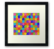 Colorful Jigsaw Puzzle Framed Print