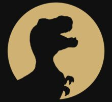 T Rex Howling Baby Tee