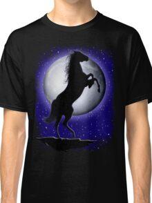 Wild Horse on Blue Moon  Classic T-Shirt
