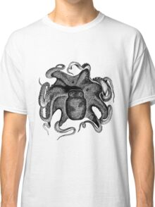 Vintage Octopus Looking Cuttle Fish Sea Animal Classic T-Shirt