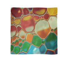 multi-colour oil bubbles on water Scarf