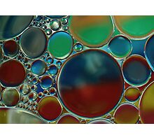 oil bubbles on water Photographic Print