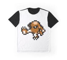 Pokemon 8-Bit Pixel Hitmonlee 106 Graphic T-Shirt