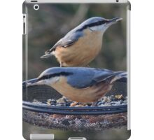 Nuthatches love sunflower seed hearts iPad Case/Skin