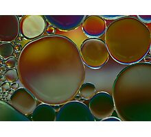 oil bubbles Photographic Print