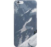 Climbers descending Mont Blanc iPhone Case/Skin