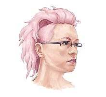 Pink Hair Photographic Print