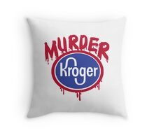 murder shirt Throw Pillow