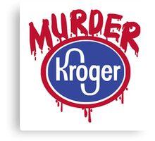murder shirt Canvas Print