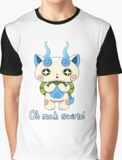 Yo-kai Watch Komasan - Oh mah swirls! Graphic T-Shirt