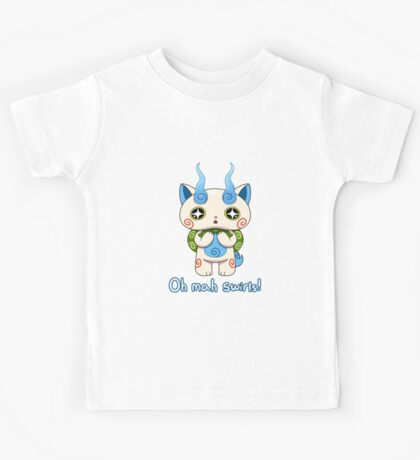 Yo-kai Watch Komasan - Oh mah swirls! Kids Tee