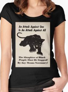 Black panther poster Women's Fitted Scoop T-Shirt