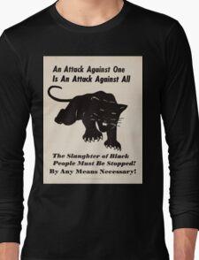 Black panther poster Long Sleeve T-Shirt