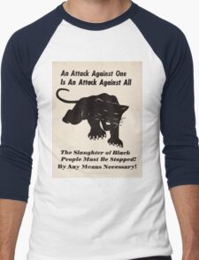 Black panther poster Men's Baseball ¾ T-Shirt