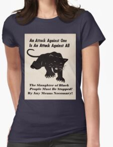 Black panther poster Womens Fitted T-Shirt