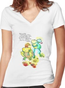 Toads & Frogs Women's Fitted V-Neck T-Shirt