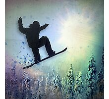 The Snowboarder: Air Photographic Print