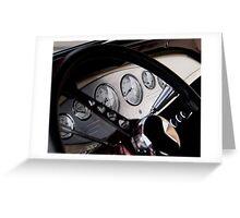 Ford Hot Rod Dashboard Greeting Card