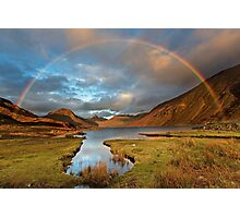 Wasdale and Wastwater Rainbow in the English Lake District Photographic Print