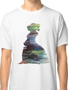 Colorful Silhouette Portrait Classic T-Shirt