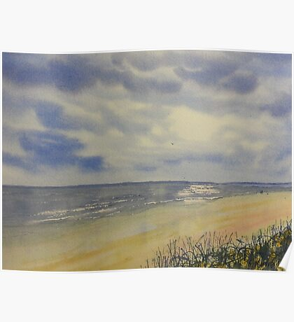 Bridlington South Bay from the Dunes Poster