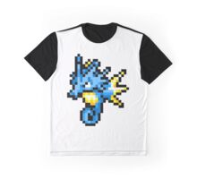 Pokemon 8-Bit Pixel Seadra 117 Graphic T-Shirt