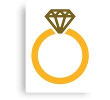 Diamond ring Canvas Print