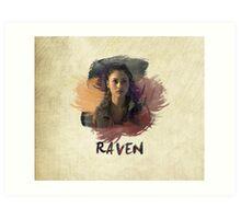 Raven - The 100 -  Brush Art Print