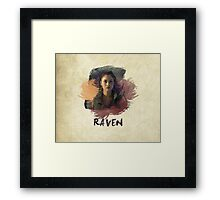 Raven - The 100 -  Brush Framed Print