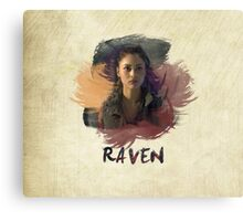 Raven - The 100 -  Brush Canvas Print