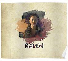 Raven - The 100 -  Brush Poster