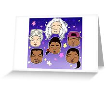 Red Dwarf - Cats in space Greeting Card