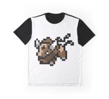 Pokemon 8-Bit Pixel Taurus 128 Graphic T-Shirt