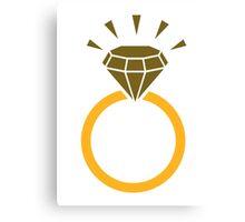 Diamond ring sparkle Canvas Print