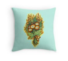 Fire Flower Bouquet Throw Pillow