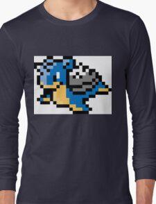 Pokemon 8-Bit Pixel Lapras 131 Long Sleeve T-Shirt
