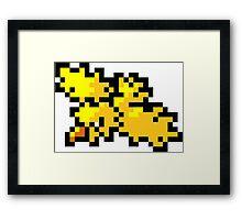 Pokemon 8-Bit Pixel Zapdos 145 Framed Print