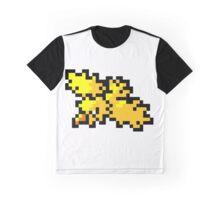 Pokemon 8-Bit Pixel Zapdos 145 Graphic T-Shirt
