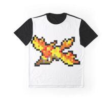 Pokemon 8-Bit Pixel Moltres 146 Graphic T-Shirt