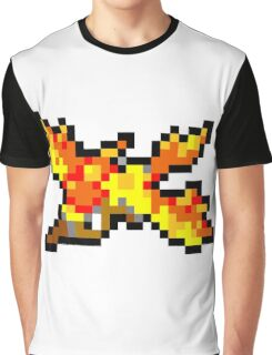 Pokemon 8-Bit Pixel Moltres 146 Graphic T-Shirt