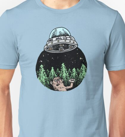 Yeti Has UFO Troubles T-Shirt
