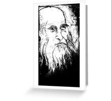 Leonardo da Vinci Greeting Card