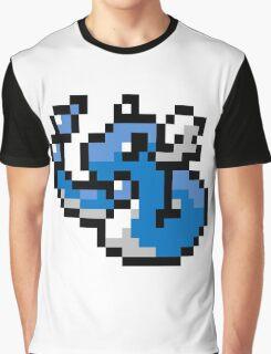 Pokemon 8-Bit Pixel Dragonair 148 Graphic T-Shirt