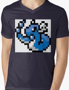 Pokemon 8-Bit Pixel Dragonair 148 Mens V-Neck T-Shirt