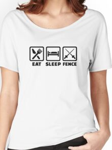 Eat sleep fence Women's Relaxed Fit T-Shirt
