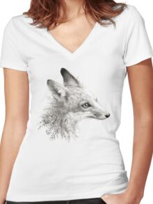 A Young Fox Women's Fitted V-Neck T-Shirt